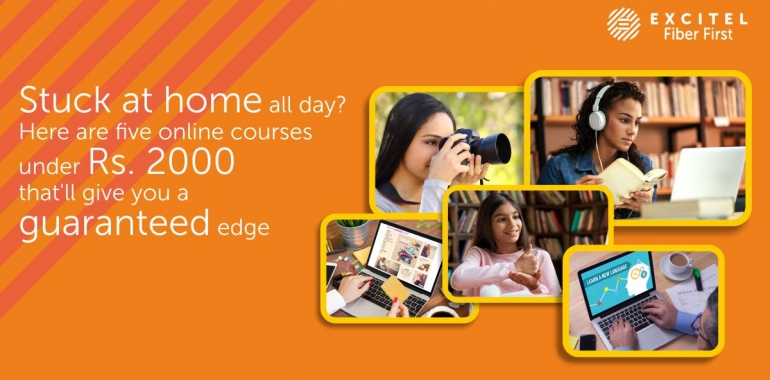 Stuck at home all day? Here are five online courses under Rs. 2000 that'll give you a guaranteed edge